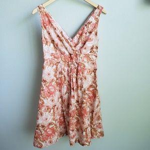 Lands' End watercolor floral print cotton dress 2